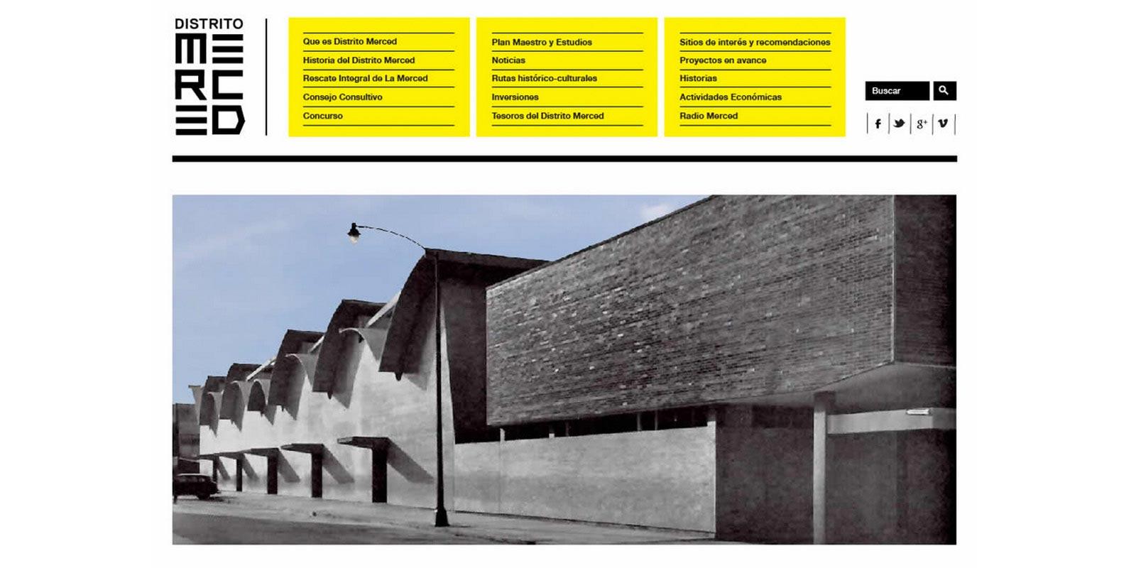 Diseño de identidad del Distrito Merced.