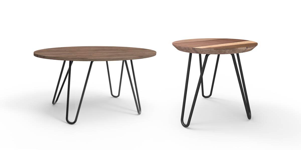 Línea Oaxaca. Línea de mobiliario fabricada con madera huanacaxtle de un aprovechamiento forestal responsable.